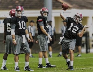 Alabama Spring Practice QB Competition