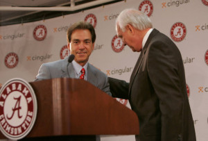 Mal Moore Alabama AD Hires Nick Saban