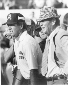 Mal Moore Alabama Coach with Bear Bryant