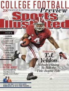 2013 Alabama Football Podcast Preseason TJ Yeldon SI Cover