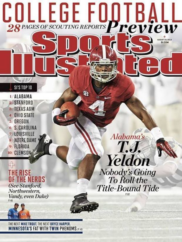 2013 Alabama Football Podcast Preseason TJ Yeldon SI Cover