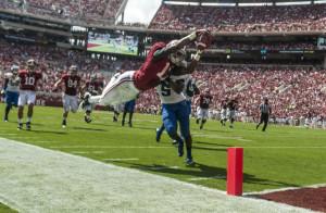 Kenyon Drake soaring through the air