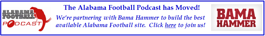 The Alabama Football Podcast is moving to better serve you!