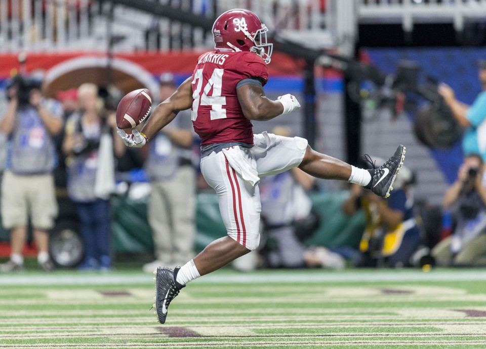 Damien Harris for the touchdown