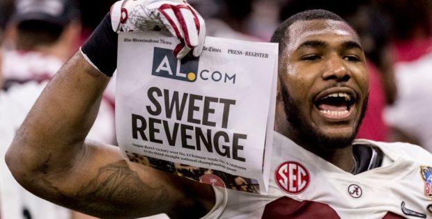 Sweet Revenge Alabama over Clemson 2018 Sugar Bowl